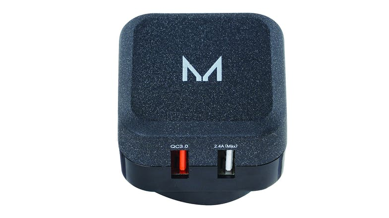 Moyork Watt+ Dual 30W 2.4A + QC Wall Charger- Textured Stone