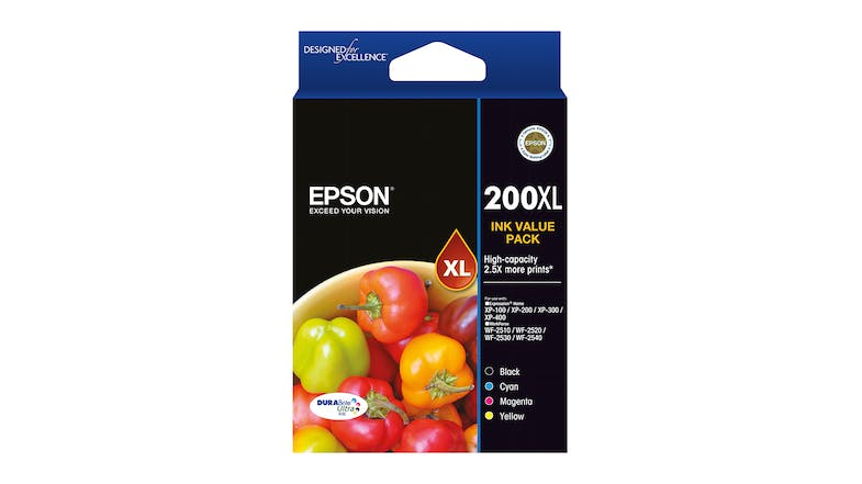 Epson 200XL High Capacity DURABrite Ultra - Ink Cartridge Value Pack