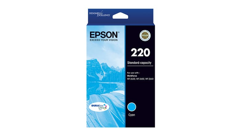Epson 220 DURABrite Ultra Ink Cartridge - Cyan