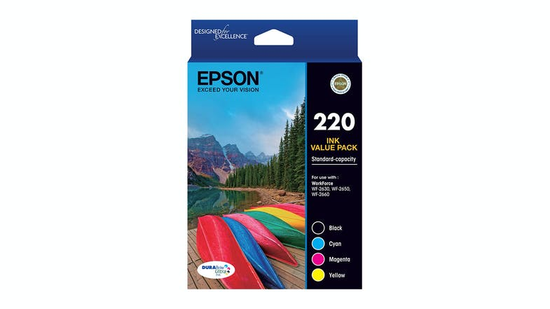 Epson 220 High Capacity DURABrite Ultra Ink Cartridge - Value Pack