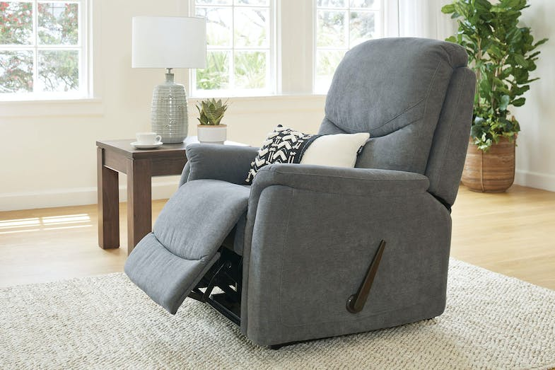 Camden Fabric Recliner Chair by Dixie Cummings - Charcoal