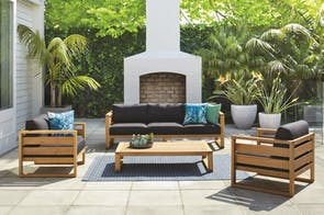 Haven 4 Piece Outdoor Lounge Setting