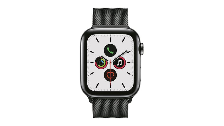 Apple Watch Series 5 (GPS+Cellular) 40mm Space Black Stainless Steel + Space Black Milanese Loop