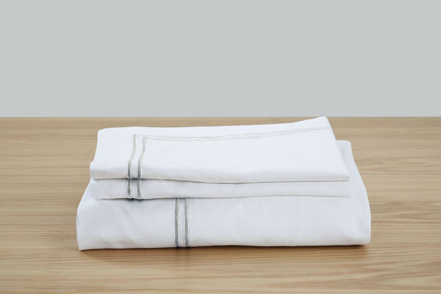 Embroidered Hotel Sheet Set by Top Drawer