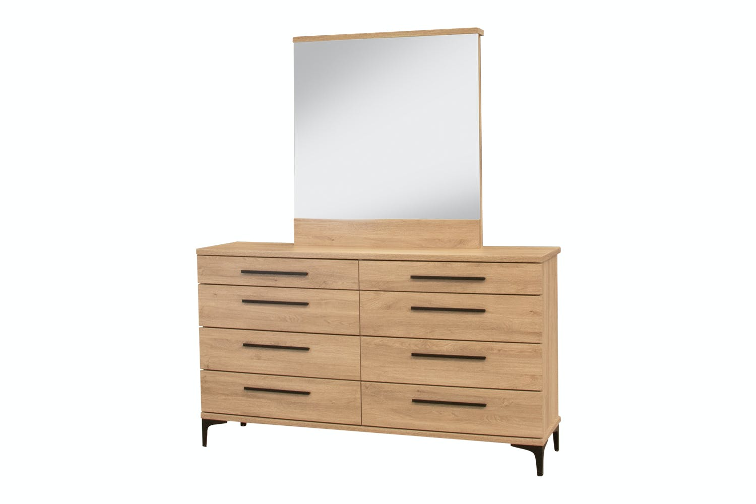 Aza 8 Drawer Dresser With Mirror By Compac Furniture