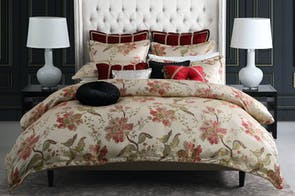 Ayme Red Duvet Cover Set by Da Vinci