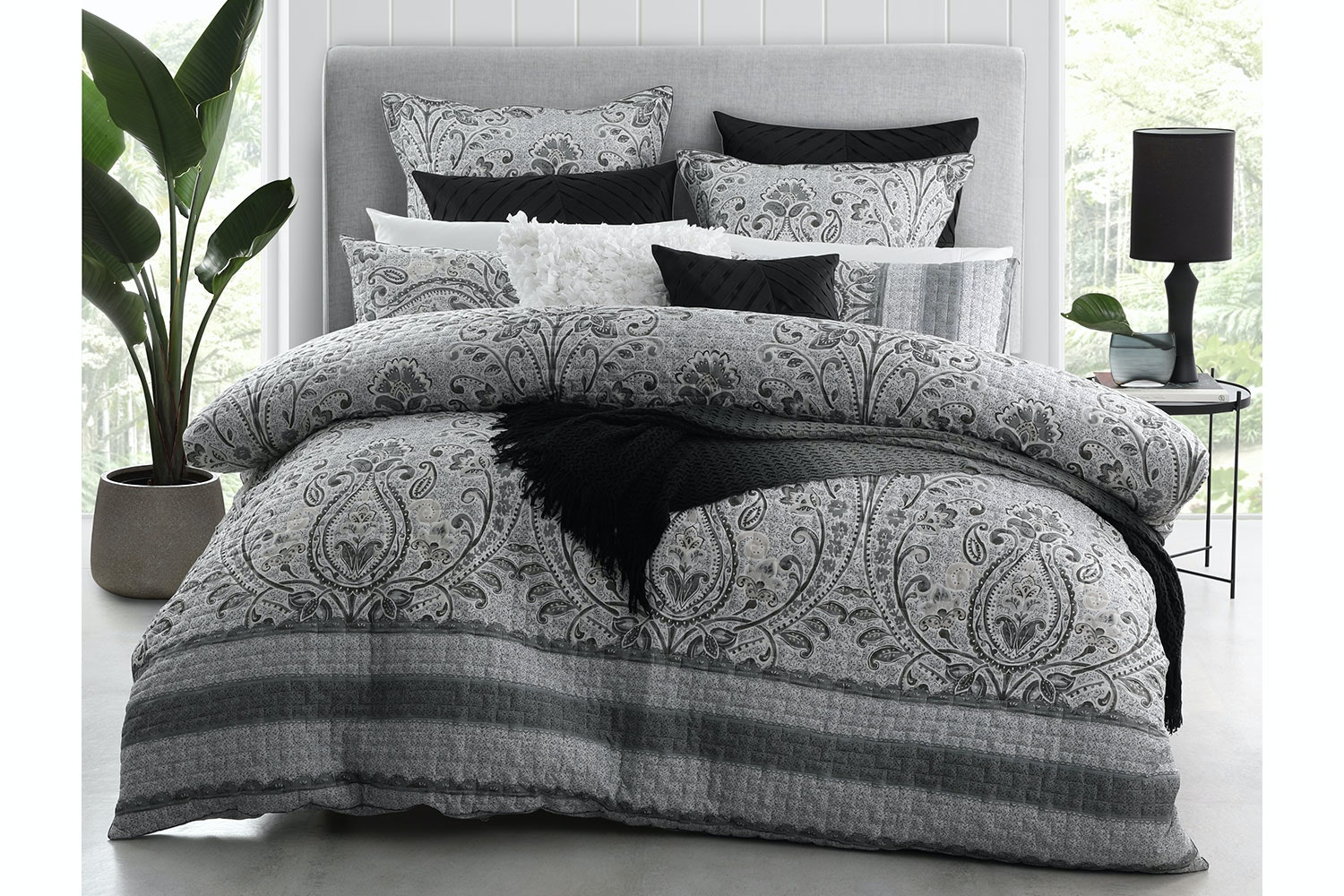 Basque Linen Duvet Cover Set By Platinum Collection Harvey Norman New Zealand
