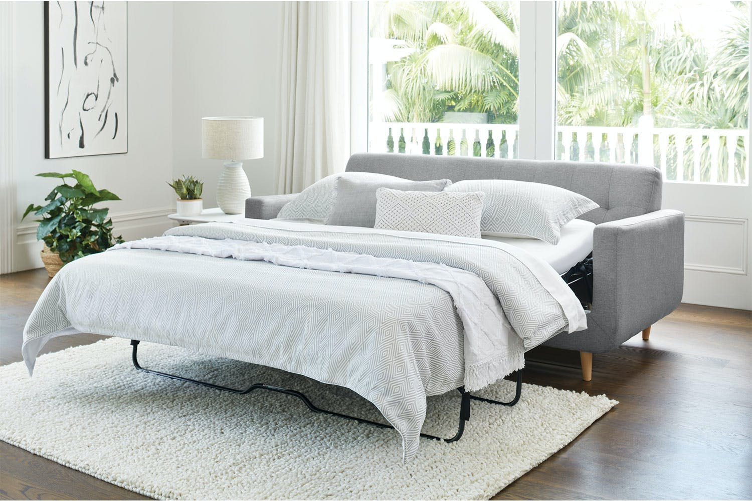Hogan 3 Seater Fabric Sofa Bed