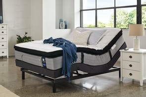 Sealy Posturepedic Mason Medium Queen Mattress with Ease Adjustable Base by Tempur