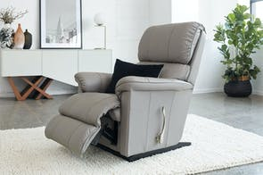 Stanley Leather Power Lift Recliner Chair by Debonaire Furniture
