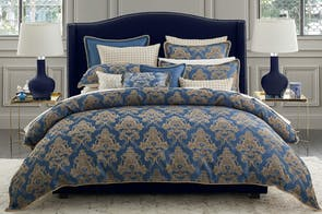 Windsor Navy Duvet Cover Set by Da Vinci