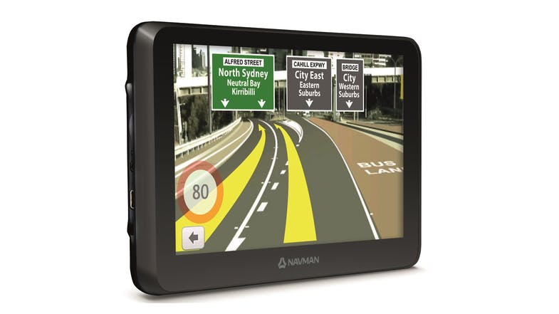Navman Drive Duo 2.0 GPS Navigator Left Side
