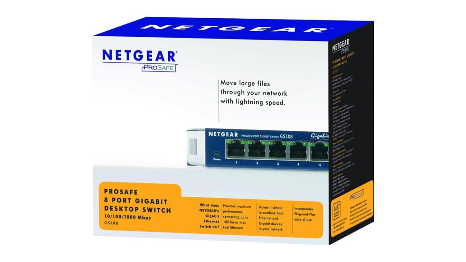 Netgear GS108 Gigabit Switch - 8 Port