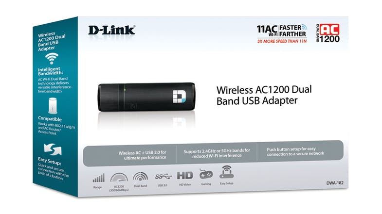 D-Link AC1200 Dual Band Wireless USB Adapter