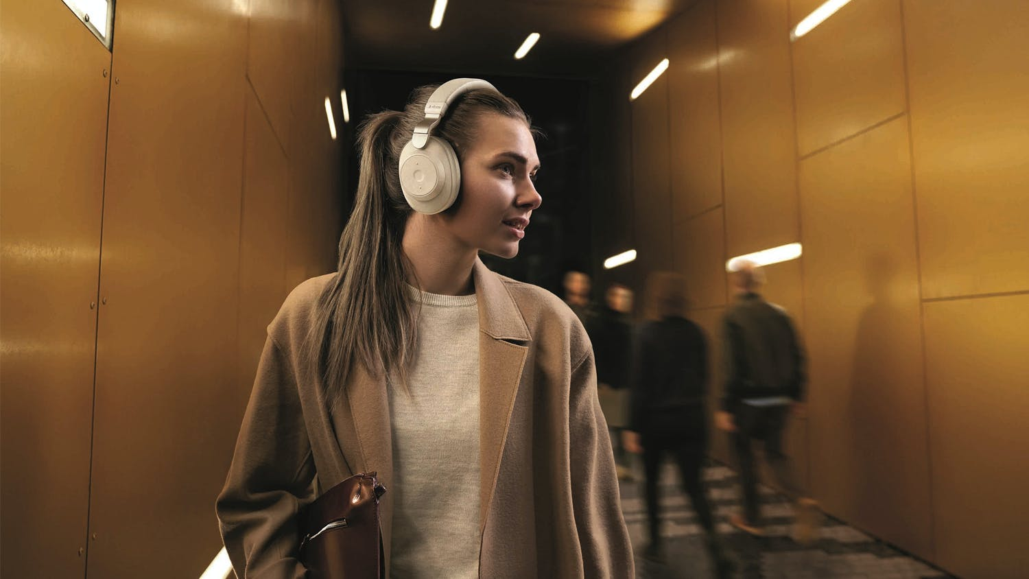 Jabra Elite 85h Wireless Noise Cancelling Over-Ear Headphones - Gold Beige