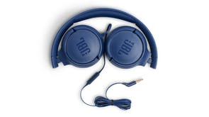JBL TUNE 500 Wired On-Ear Headphones - Blue