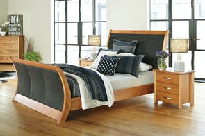 Cassidy Oak Queen Bed Frame by Ezirest Furniture