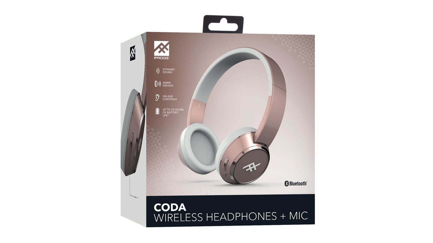 iFrogz Coda Wireless On-Ear Headphones - Rose Gold