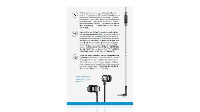 Sennheiser CX 300S In-Ear Headphones - Black