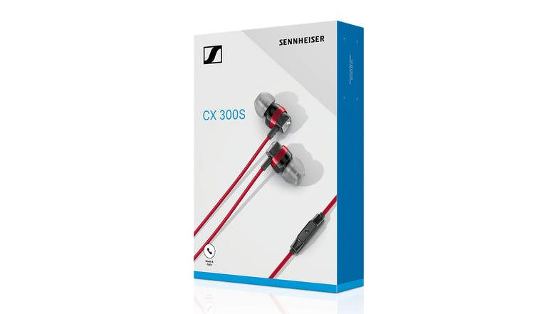 Sennheiser CX 300S In-Ear Headphones - Red