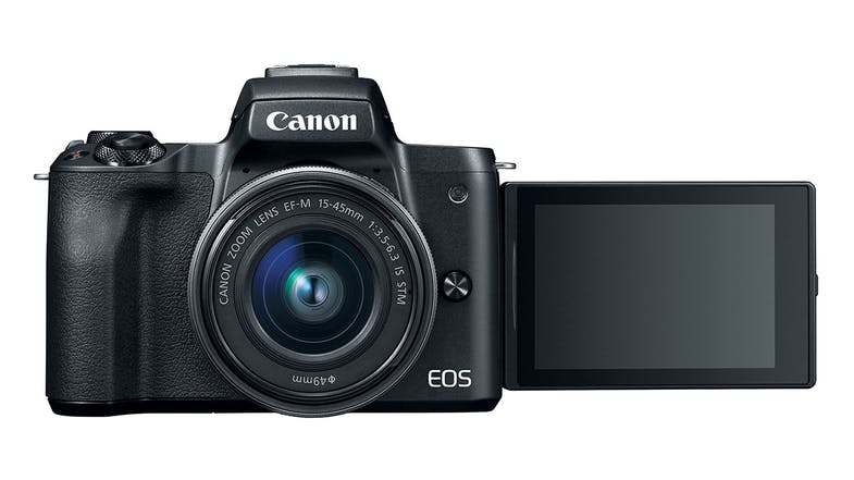 Canon EOS M50 with EF-M 15-45mm Lens