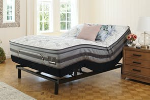 King Koil Chiro Enhance Medium Queen Mattress with Ease Adjustable Base by Tempur