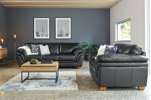 Demi 2 Piece Leather Lounge Suite by La-Z-Boy - Alpha Leather