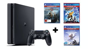 PlayStation 4 1TB Slim Console + PS4 Hits Game Bundle (M)
