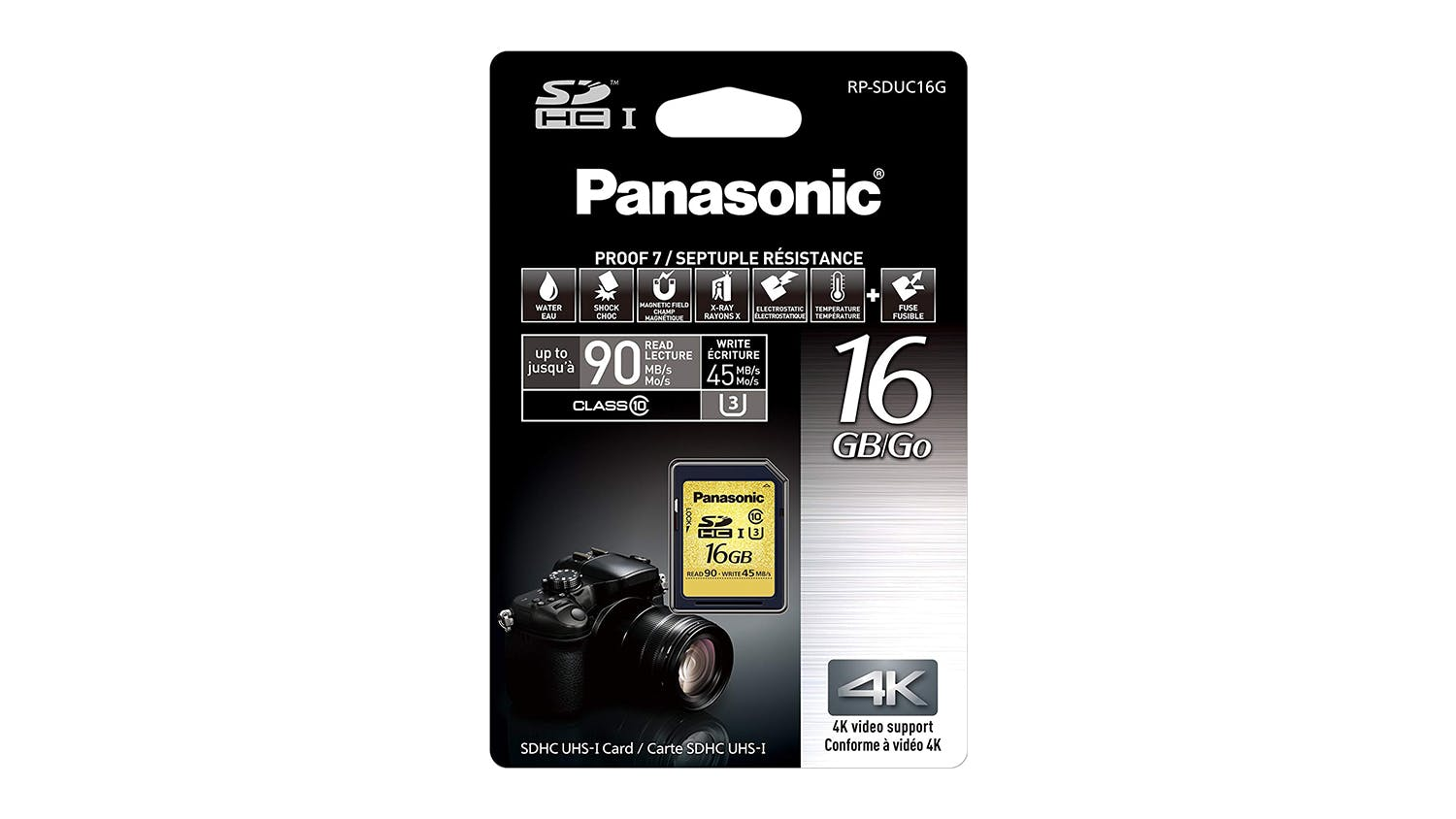Panasonic Gold 4k Ready High Speed SD Card - 16GB