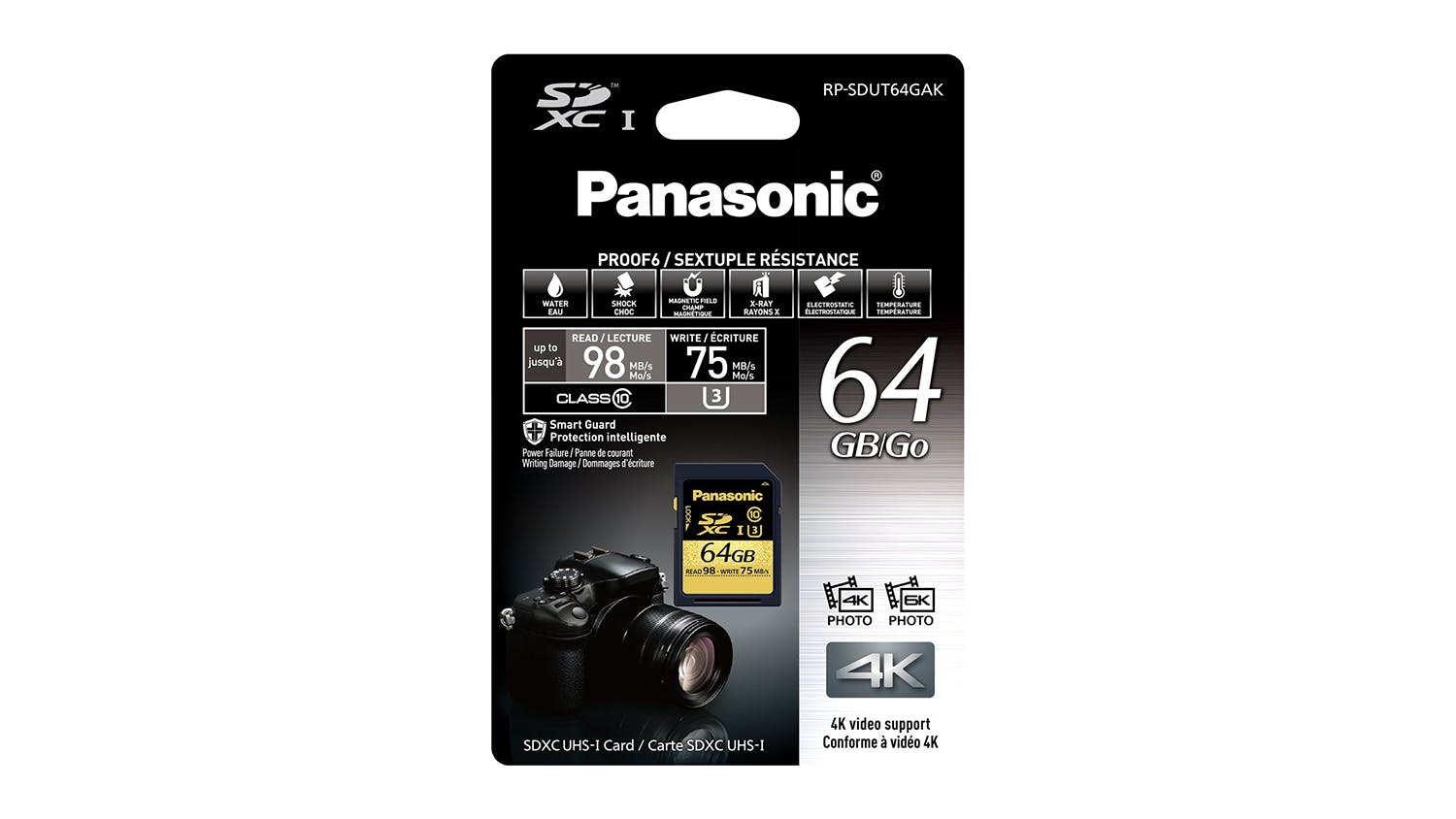 Panasonic 64GB SD Card Gold Series