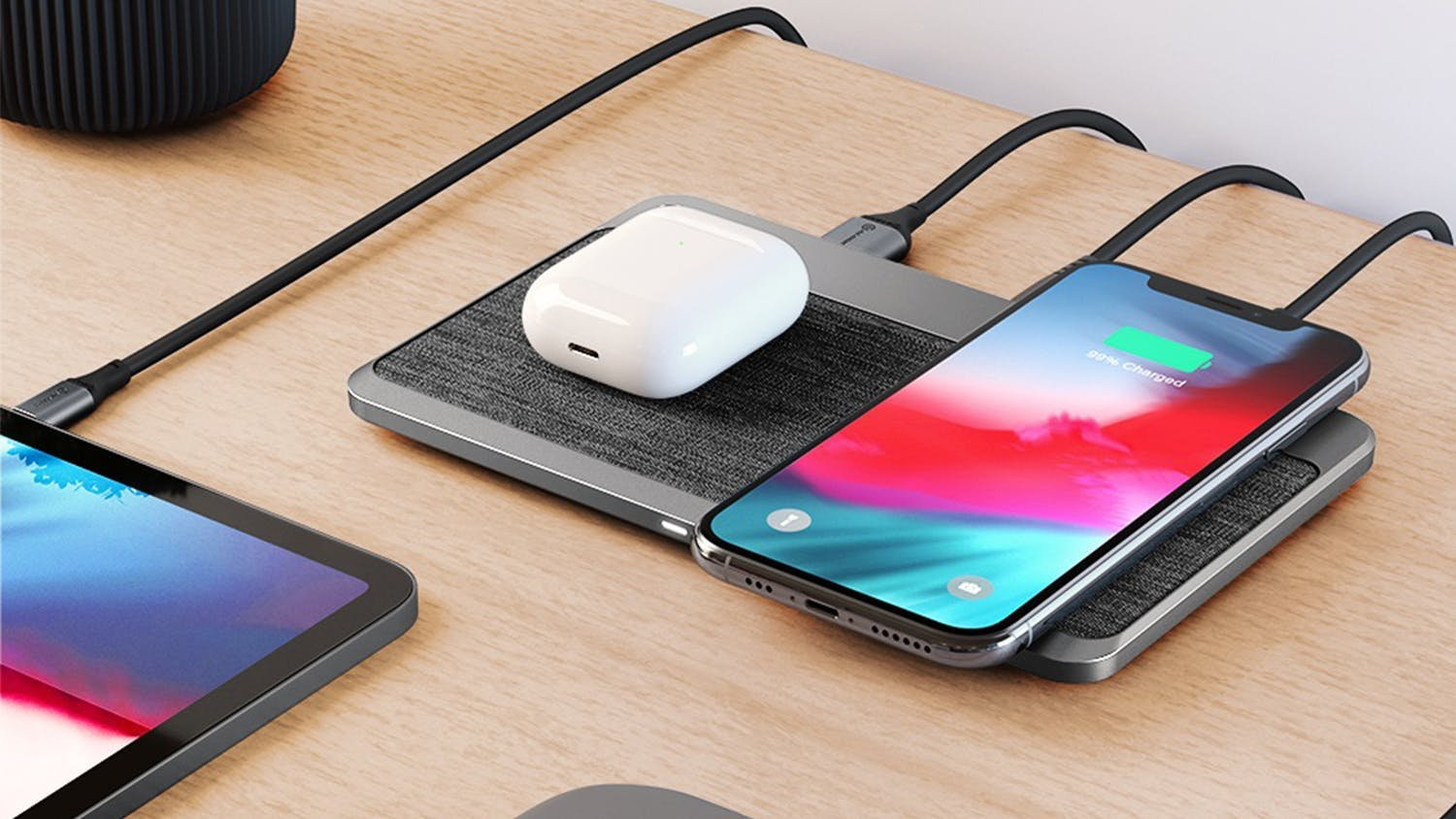 Alogic Power Hub Dual Wireless Charging Station