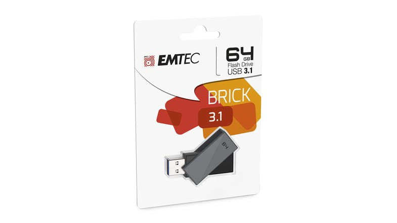 EMTEC Brick 3.1 USB Flash Drive - 64GB