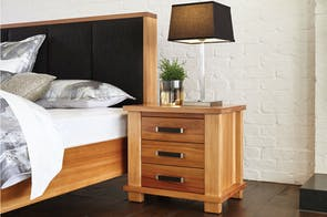 Huntsman Oak Bedside Table by Ezirest Furniture