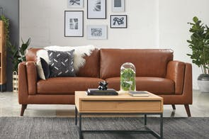 Maia 3 Seater Leather Sofa