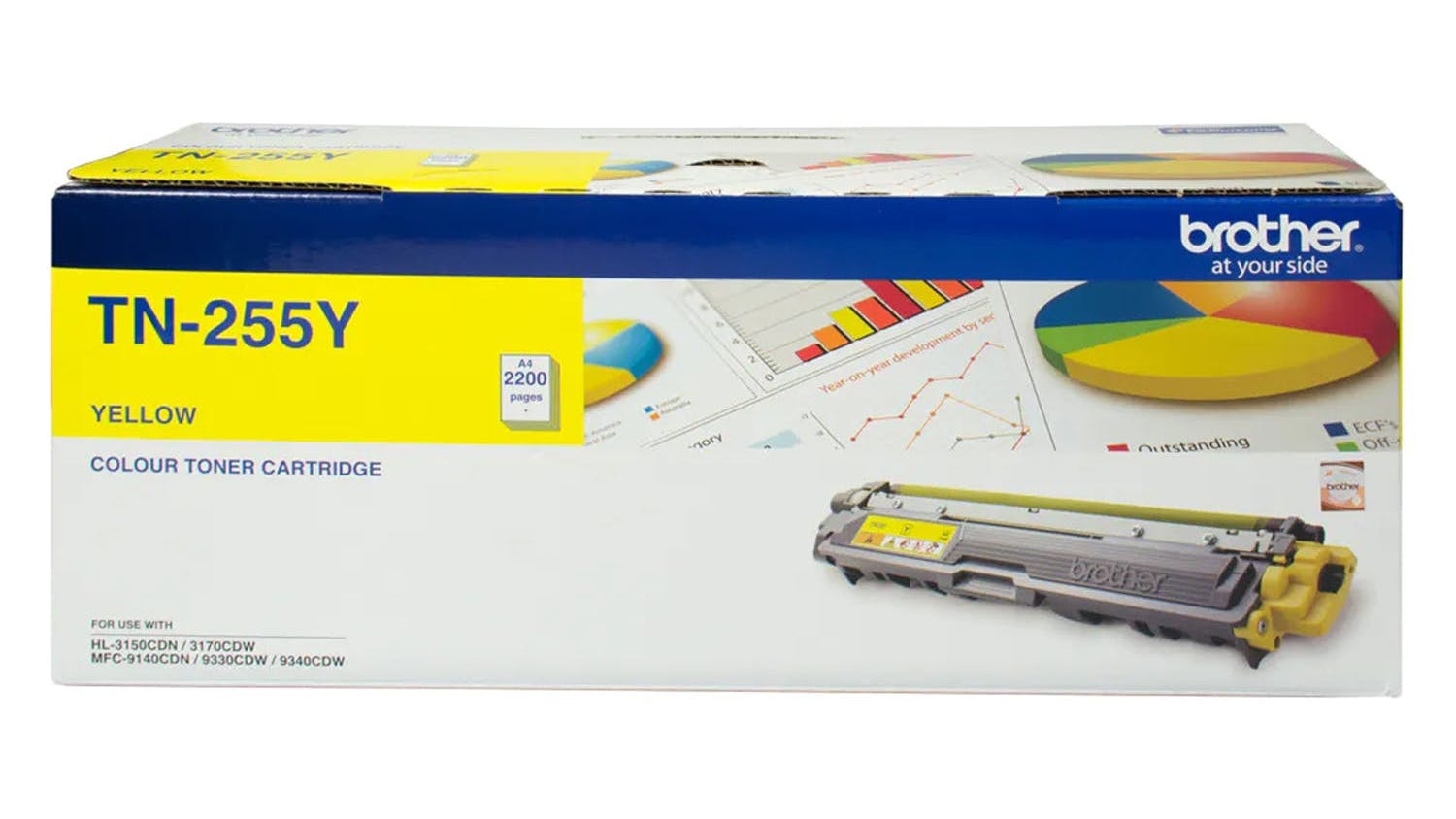 Brother TN255Y Toner Cartridge - Yellow