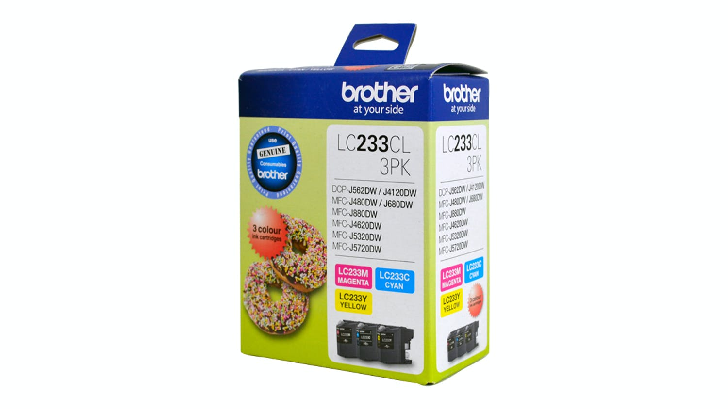 Brother LC233CL3PK Colour Ink Cartridge - 3 Pack