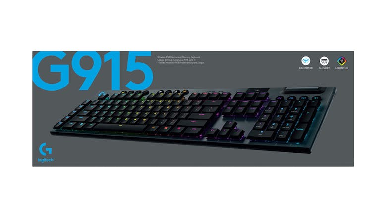 Logitech G915 LIGHTSPEED Wireless RGB Mechanical Gaming Keyboard-GL Clicky