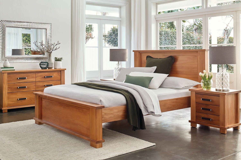 Huntsman Oak Low Foot Queen Bed Frame By Ezirest Furniture | Harvey Norman  New Zealand