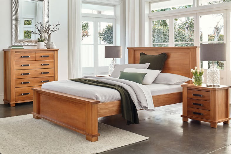 Huntsman Oak Low Foot King Bed Frame by Ezirest Furniture