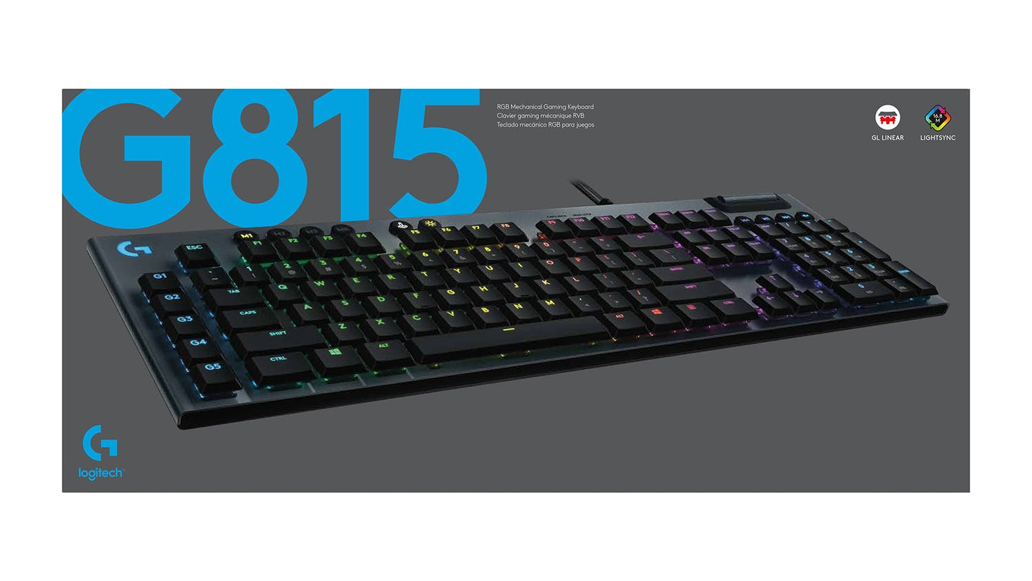 Logitech G815 LIGHTSYNC RGB Mechanical Gaming Keyboard - GL Linear
