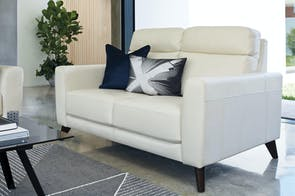 Finlay 2 Seater Leather Sofa by Synargy