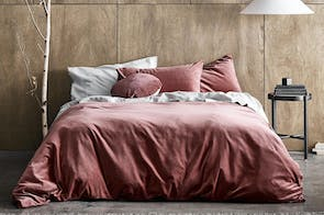 Luxury Velvet Mahogany Duvet Cover by Aura