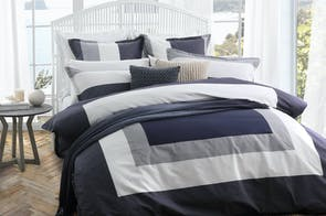 Madden Navy Duvet Cover Set by Logan & Mason