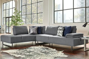 Picasso 5 Seater Corner Fabric Sofa with Chaise by Dixie Cummings