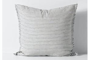 Vintage Stripe Ink European Pillowcase by Aura