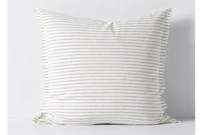 Chambray Stripe Mink European Pillowcase by Aura