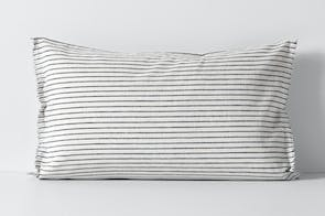 Vintage Stripe Ink Standard Pillowcase by Aura