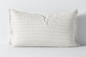 Chambray Stripe Mink Standard Pillowcase by Aura
