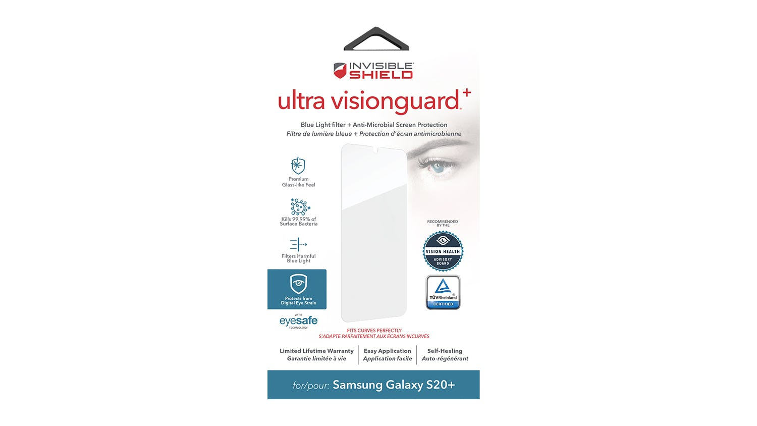 InvisibleShield Ultra VisionGuard+ Screen Protector for Samsung Galaxy S20+