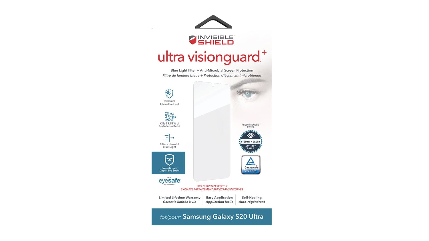 InvisibleShield Ultra VisionGuard+ Screen Protector for Samsung Galaxy S20 Ultra
